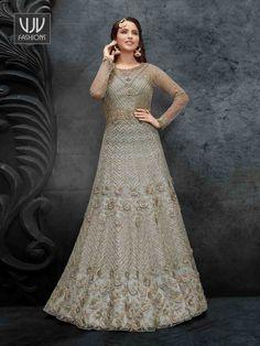 Rs7,200.00 Latest Anarkali Suits, Wedding Salwar Kameez, Indian Salwar Kameez, Latest Sarees, Saree Wedding, Designer Salwar Suits, Designer Anarkali, Designer Dresses, Wedding Sarees Online