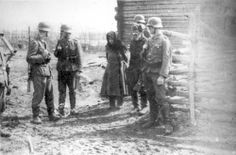 Belorussia, A man and a woman before they were executed by German soldiers.