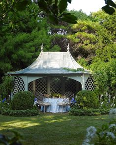 "395 Likes, 11 Comments - Vendome Press (@vendomepress) on Instagram: ""Dreaming of the weekend yet? A shaded pavilion at Laura and Harry Slatkin's blissful cottage garden…"""