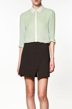 Zara Combined Studio Shirt, $99.90, available at Zara.