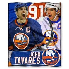 New York Islanders John Tavares NHL Players HD Silk Touch Throw. 50 x 60.  Visit SportsFansPlus.com for Details.