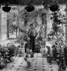 Greenhouse, Cecil Beaton pictured