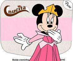 Tercera parte de Minnie Princesa: etiquetas para imprimir gratis.