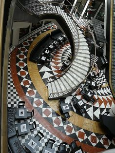 Art Deco mosaic gallery Berlin 1 - original art deco shopping center in (former Eastern) Berlin  by peterpeers - home alone, via Flickr