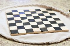 Chessboard that turns into a bag to hold the pieces!