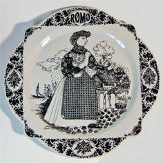 bjorn wiinblad romo-rømø plate, Woman in Native Dress.