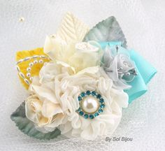 Brooch Groom Boutonniere Boutonniere with Brooch by SolBijou, $35.00