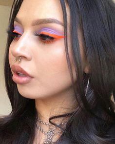 Makeup Eye Looks, Eye Makeup Art, Colorful Eye Makeup, Simple Makeup, Makeup Inspo, Makeup Inspiration, Face Makeup, Rhinestone Makeup, Different Makeup Looks