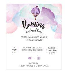 Invitación Baby Shower Globo - Diseños Personalizados