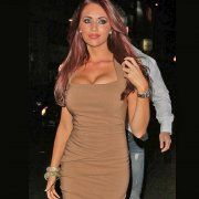 Amy Childs sparkles in Lemonade's crystal sparkling bangles quite often. She's famous for it and to top off her outfit she accessorised with medium gold chunky crystal bangles from Lemonade.
