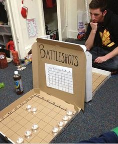Twitter / LifeCheating: Homemade drinking game: ... Pizza Boxes, Battle Shots, Just For Fun, Party Time, Entertaining, Adult Games, Adult Fun, Adult Party Games, Good Things