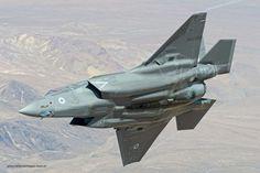 Air to air image of a RAF Lightning ll aircraft. Navy Aircraft, Aircraft Photos, Military Jets, Military Aircraft, Fighter Aircraft, Fighter Jets, F35 Lightning, Edwards Air Force Base, Air Image