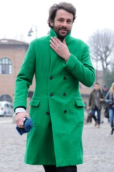 My hubby would look soooo fly in this!!! Not sure he would be bold enough to sport the green...but I LOVE this!!!  HOT