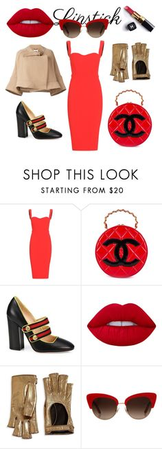 """""""Senza titolo #15"""" by ivaaugustinovic ❤ liked on Polyvore featuring beauty, Victoria Beckham, Chanel, Gucci, Lime Crime, Dolce&Gabbana and Chloé"""