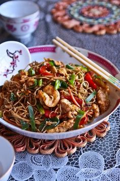 singapore noodles so yum and the kids loved them, bonus!