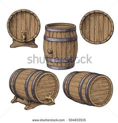 Buy Collection of Classical Wooden Barrels by Sabelskaya on GraphicRiver. Set of wooden barrels, sketch style vector illustrations isolated on white background. Collection of standing and lyi. Beer Hampers, Sketch Style, Beer Fest, Game Concept Art, House Drawing, Environment Concept Art, Car Drawings, Middle Ages, Vector Design