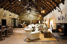 The amazing lounge area of Mushara Lodge in Namibia - read about it on www.intrepidexplorer.co.za