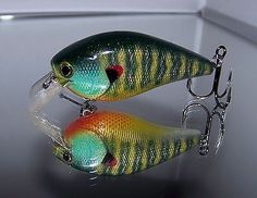 Custom Painted HOLLYWOOD 2.5 DRS Rattl'n Squarebill Crankbait Lure Bad Ass Bream
