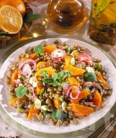 Receptek Lajos Mari konyhájából - Lencsesaláta narancsos öntettel