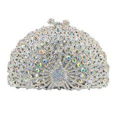 Luxury Crystal Evening Bag Peacock Clutch Diamond Party Purse Pochette Soiree Women_16     https://www.lacekingdom.com/
