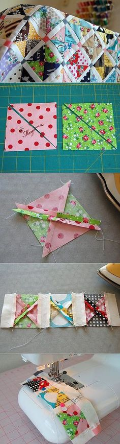 "Link doesn't lead to the instructions but pictures tell the story. ""More Rag Quilting Links"""