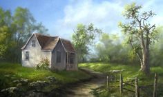 Oil Painting Old Farm House - Paint with Kevin Hill - PaintingTube Acrylic Painting Lessons, Painting Videos, Painting Techniques, Painting Tutorials, Painting Art, Painting Trees, Painting People, Kevin Hill Paintings, Bob Ross Paintings