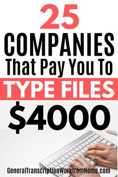 Learn how you can make money typing audio files and work from home as a transcriptionist.Get a list of 25 transcription companies that have online transcription jobs for beginners. No transcription experience required. Typing Jobs From Home, Online Typing Jobs, Best Online Jobs, Online Jobs From Home, Home Jobs, Online Job Websites, Earn Money From Home, Earn Money Online, Way To Make Money