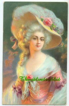 Marie Antoinette 8 x 10 inch fabric block by THEVELVETRABBIT.