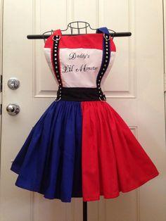 Harley Quinn inspired apron by BackRoadOriginals on Etsy