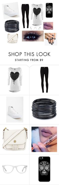 """""""Black and white"""" by abygail428 ❤ liked on Polyvore featuring beauty, AG Adriano Goldschmied, Vans, ABS by Allen Schwartz, Tory Burch, Muse and alfa.K"""