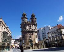 Iglesia de la Peregrina en Pontevedra, provincia de Pontevedra.