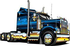 Kenworth Log Truck Clipart - Clipart Suggest Big Rig Trucks, Semi Trucks, Cool Trucks, Custom Big Rigs, Custom Trucks, Truck Tattoo, Truck Paint, Kenworth Trucks, Heavy Truck