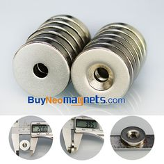 10pcs 20mm x 4mm with Countersunk Hole 5mm N42 Strong Round Neodymium Countersunk Magnets now is available from Buyneomagnets.com  click here:https://goo.gl/24ZJVH