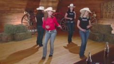 Cowboy Cha Cha - Line Dance Instruction, via YouTube.