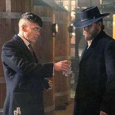 And this duo tomorrow! 9PM on @bbctwo : #mattsquire #cillianmurphy #tomhardy #peakyblinders
