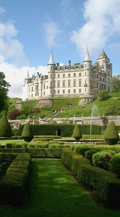 Dunrobin Castle ~ the family seat of the Earl of Sutherland and the Clan Sutherland in Scotland, Opened 1845