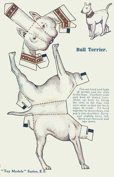 Il favoloso mondo di carta di Totò: Bull Terrier Paperdog
