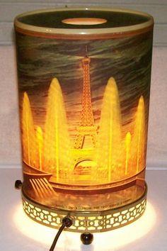 CA 1963 Econolite 759 Oval Eiffel Tower Concorde Paris France Motion Lamp  Light