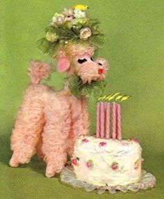 My pink poodle dog obsession began with yard sale treasure when I was about five years old.  The original pink poodle dog is long gone, but I have a collected a few replacements over the years. storyjan