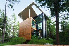 Casas Minimalistas y Modernas: Casa Moderna en el Bosque de Quebec