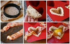 e is for eat: T is for: Toast Cups {heart shaped for Valentine's Day}