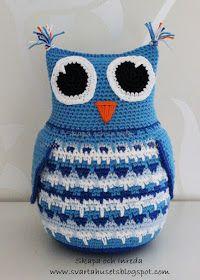 Crochet Patterns Amigurumi, Crochet Hats, Crochet Animals, Birds, Diy, Owls, Crochet Cushions, Amigurumi Doll, Totes