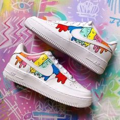 Air Force One Shoes, Air Force Ones, Nike Air Force, Nike Af1, Custom Clothes, Sneakers Nike, Instagram, Leather, Colors