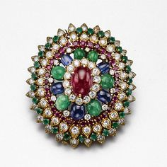 Colored stone and diamond brooch, David Webb | lot | Sotheby's