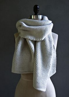 Elegant Tunisian Crochet Scarf | You'll want to get wrapped up in this beautiful scarf!