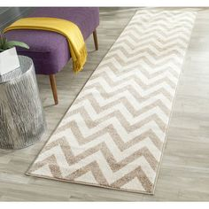 Safavieh Amherst Elvira Modern Indoor/ Outdoor Rug x Runner - Wheat/Beige) Indoor Outdoor Area Rugs, Indoor Outdoor Rugs, Outdoor Dining, Patio Rugs, Light Beige, Online Home Decor Stores, Modern Rugs, Stairway, Beige Area Rugs