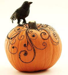 Love this new way of decorating a pumpkin!