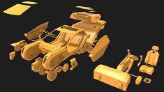 ArtStation - K's Spinner - Blade Runner 2049 Fan Art for Printing, Binh Le Blade Runner 2049, Runes, Spin, 3d Printing, Vehicle, Sci Fi, Fan Art, Artwork, Impression 3d