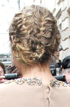 Diane Krugers braided updo
