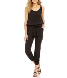 Armani Exchange Sleeveless Blouson Jumpsuit #Dillards